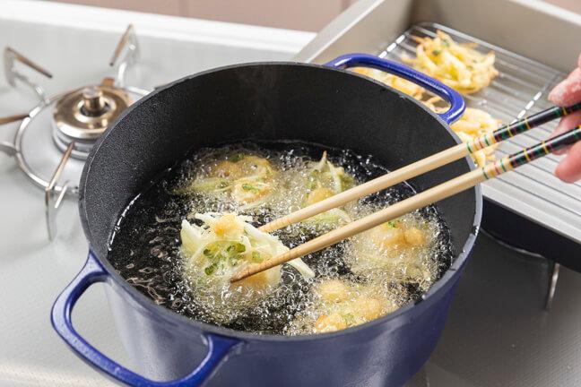ダクタイルポットで作る天ぷら